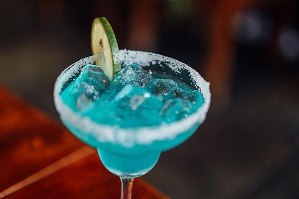 Neon blue cocktail
