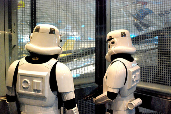 Elevator with Storm Troopers