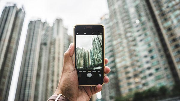 photo on a phone
