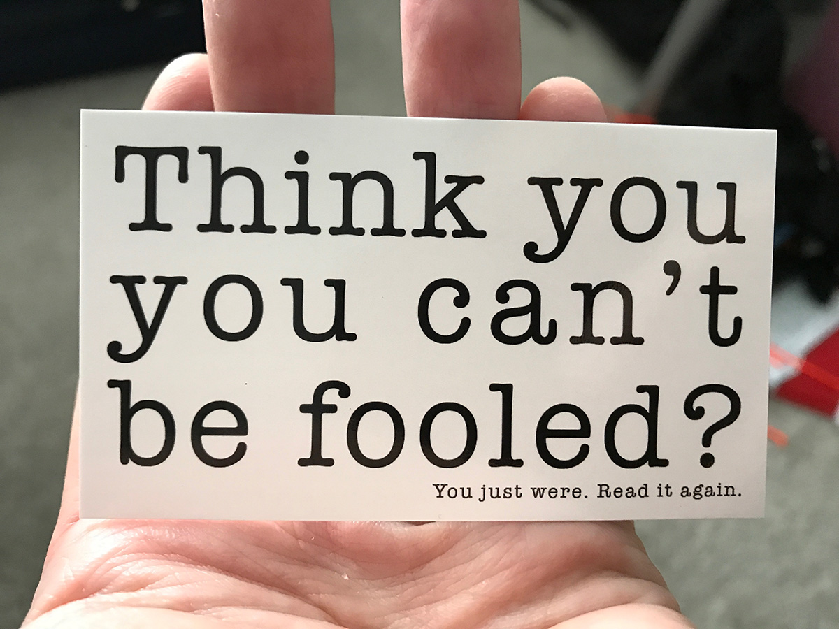 fooled note