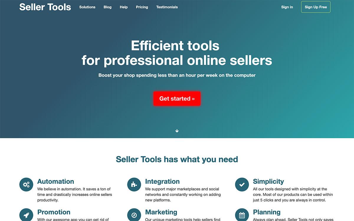 Seller Tools website